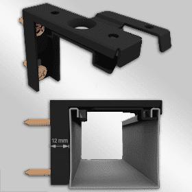 Wandhaak 12mm Zwart