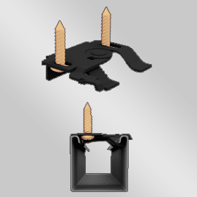 Plafond bevestiging zwart